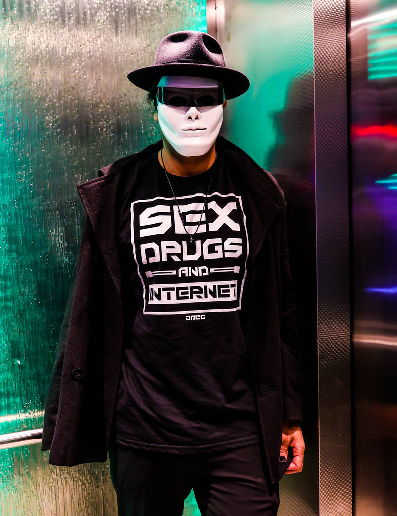 Sex Drugs & Internet Unisex T-Shirt - JPEG Cyber Store Goth Geek Alternative Clothing