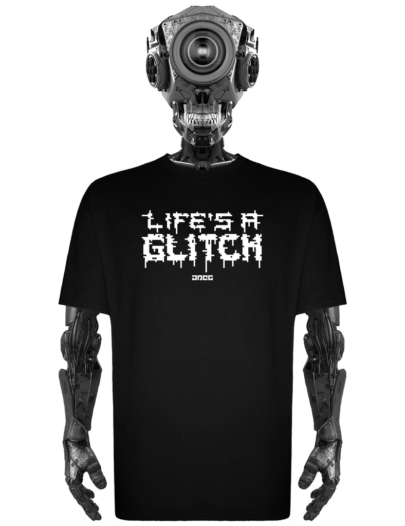 Life's A Glitch Unisex T-Shirt - JPEG Cyber Store Goth Geek Alternative Clothing