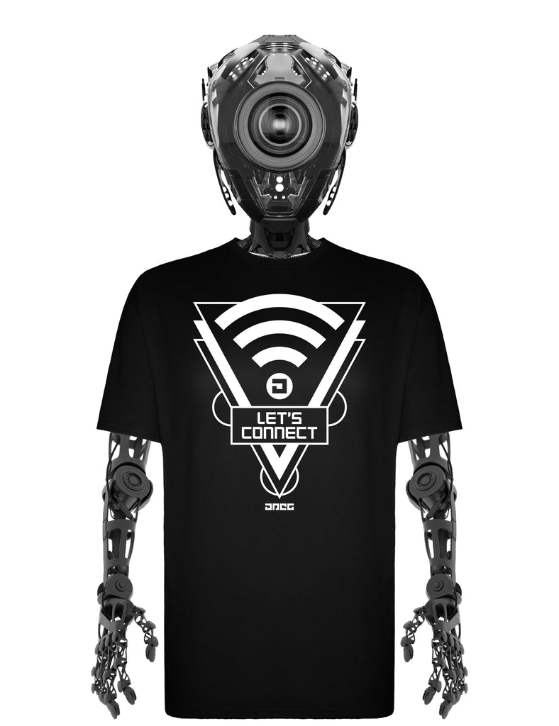 Let's Connect Unisex T-Shirt - JPEG Cyber Store Goth Geek Alternative Clothing