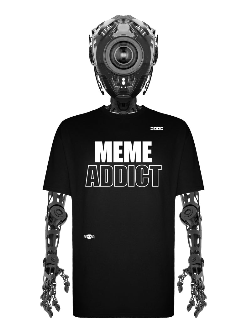 Meme Addict Unisex T-Shirt - JPEG Cyber Store Goth Geek Alternative Clothing