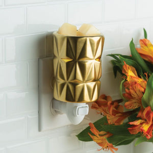 Gold Facet Pluggable Wax Warmer
