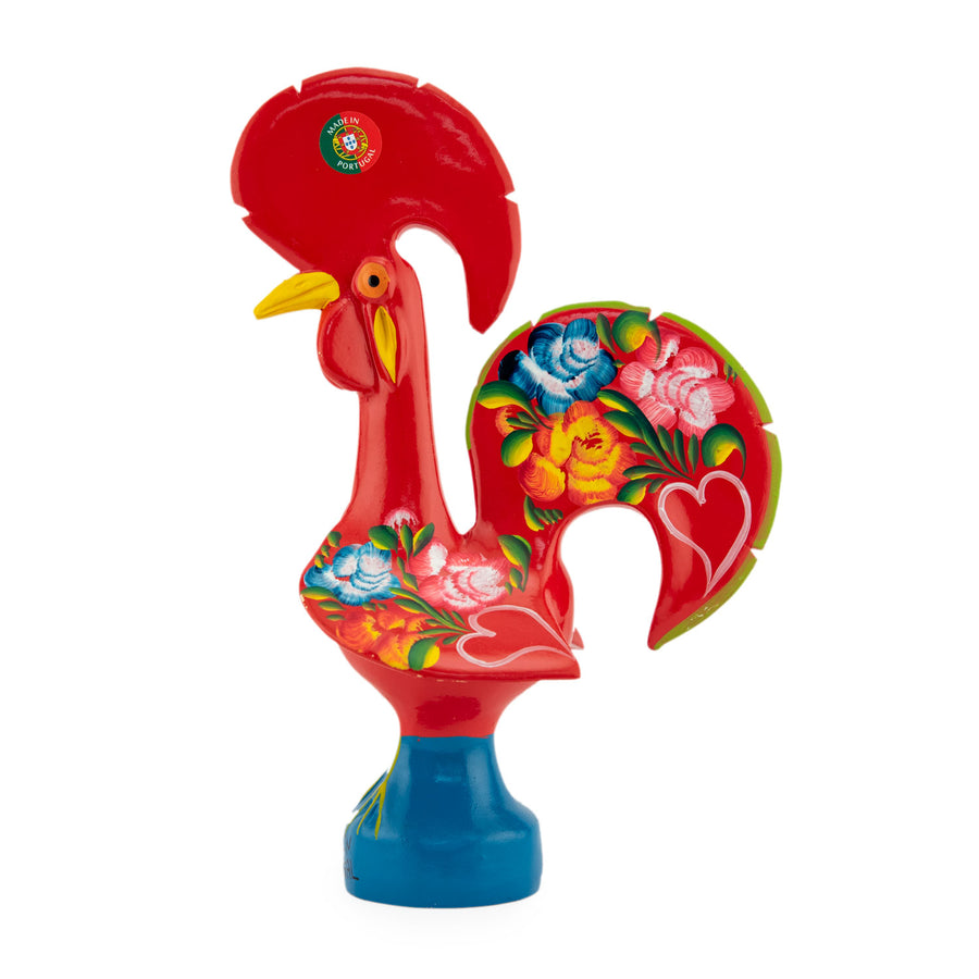 Barcelos Red Ceramic Portuguese Lucky Rooster Figurine