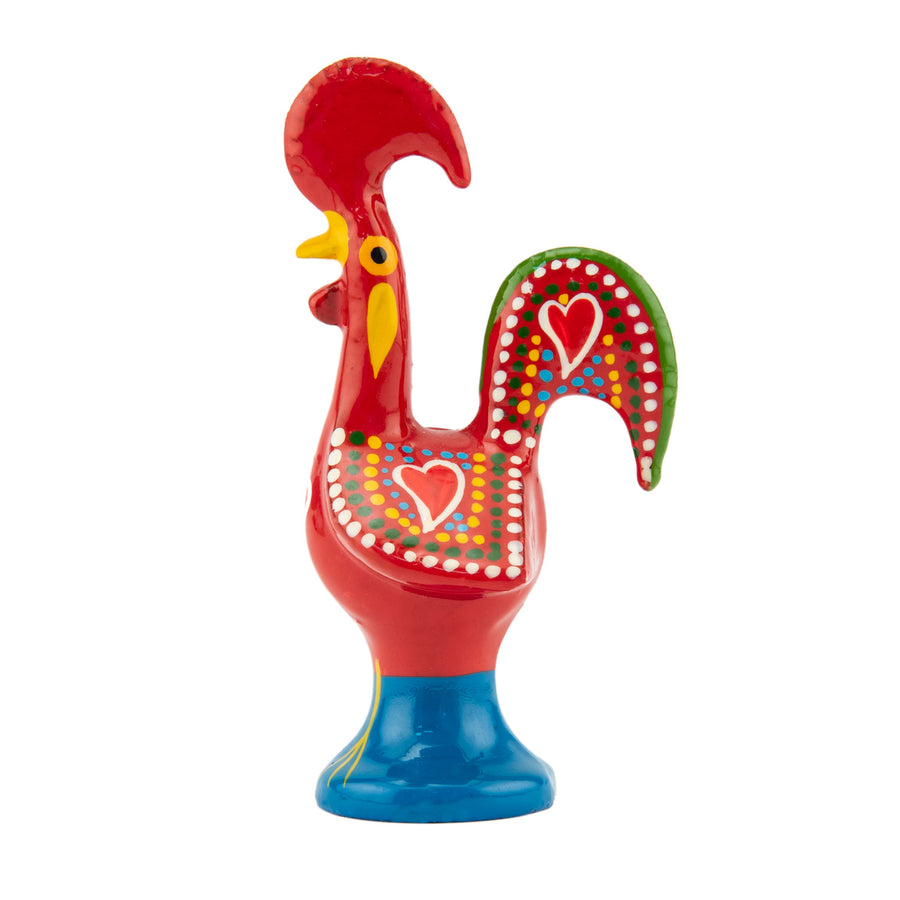 Barcelos Metal Red Portuguese Lucky Rooster Figurine