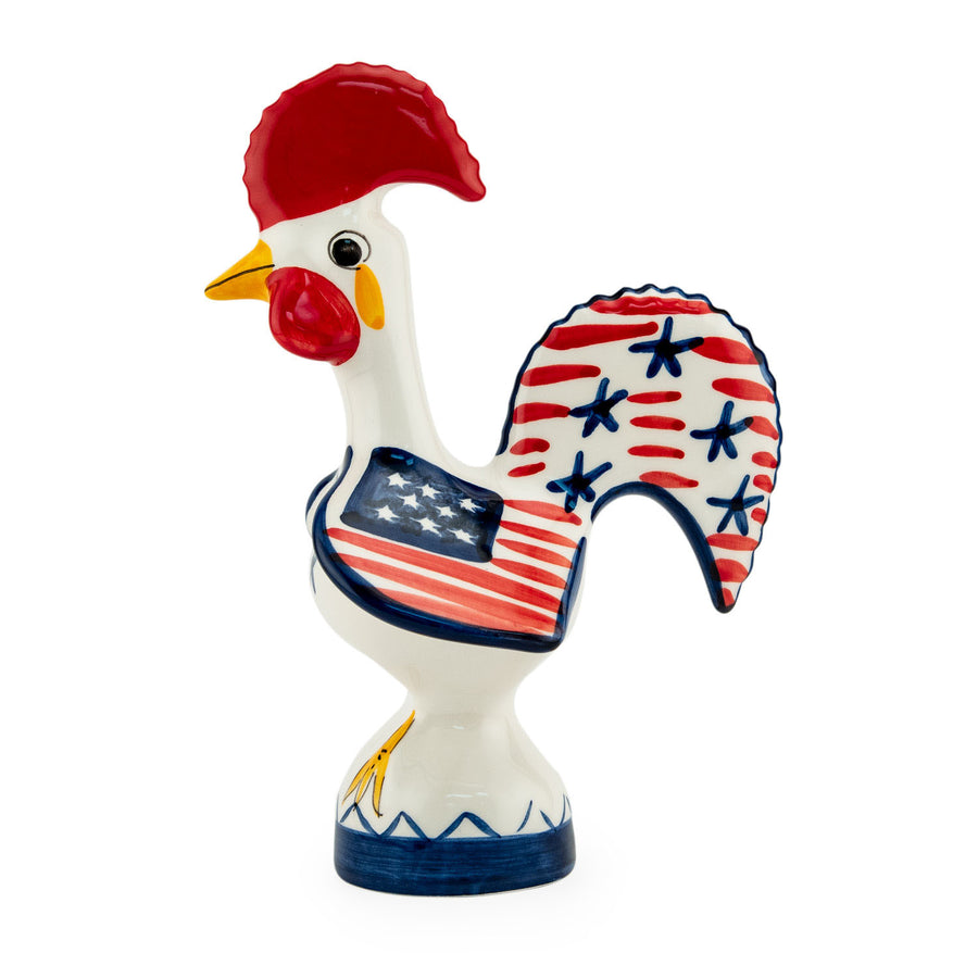 Patriot Rooster Figurine