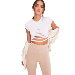 Bandage Crop Top - Enkeechi, online shopping USA,  online womens clothes shopping