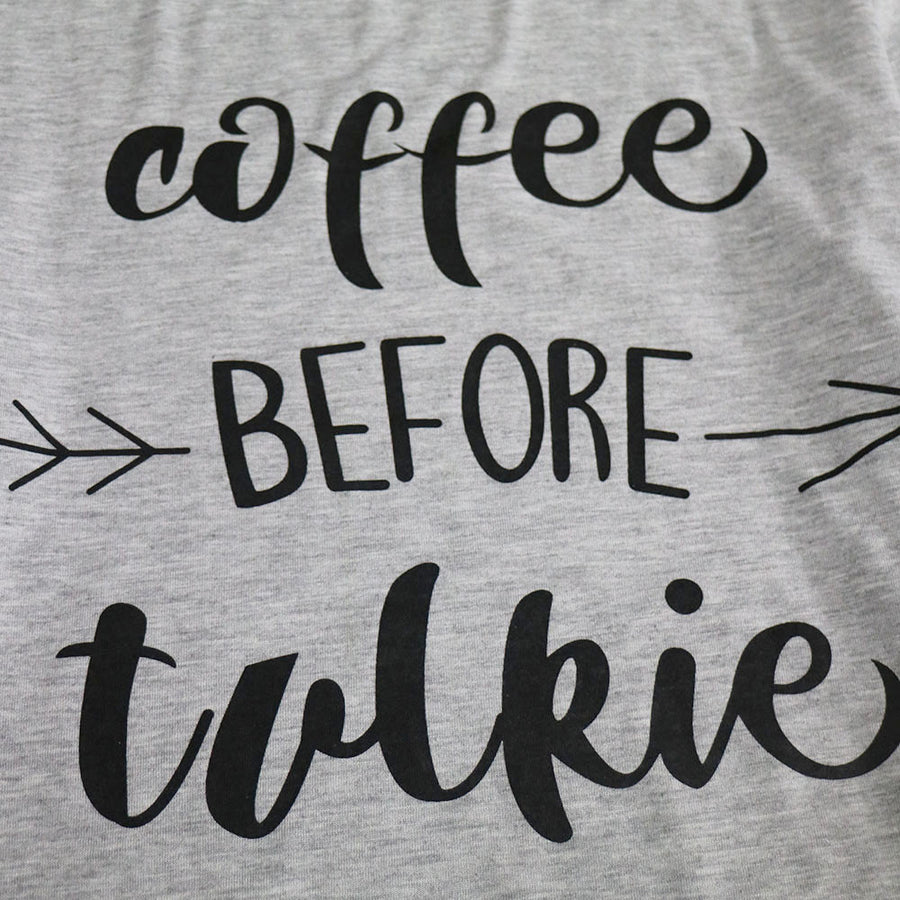 Coffee before talkie T-shirt - Enkeechi, online shopping USA,  online womens clothes shopping