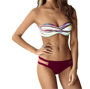 Bandeau Push Up Bikini - Enkeechi, online shopping USA,  online womens clothes shopping