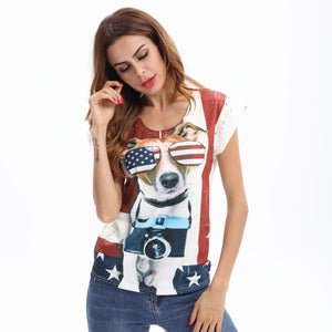 Funny Pug Printed Dog T shirt - Enkeechi, online shopping USA,  online womens clothes shopping