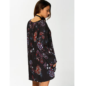 Floral Printing Long Sleeve Dress Blouse - Enkeechi, online shopping USA,  online womens clothes shopping