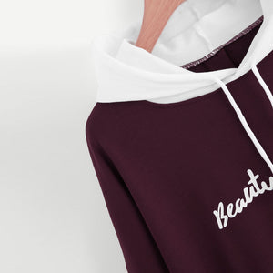 Long Sleeve Hoodie Sweatshirt with Slogan - Enkeechi, online shopping USA,  online womens clothes shopping