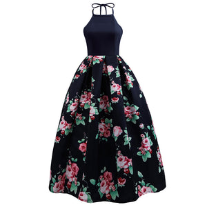 Fancy Balloon Bottom Floral Printed Dress - Enkeechi, online shopping USA,  online womens clothes shopping
