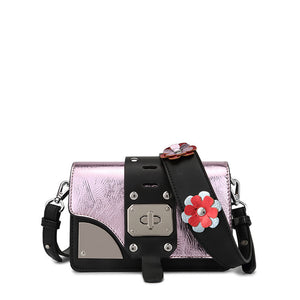 Leather Daisy Love Crossbody Bag