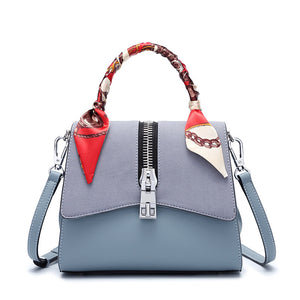 Zipper Style PU Leather Kelly  Bag