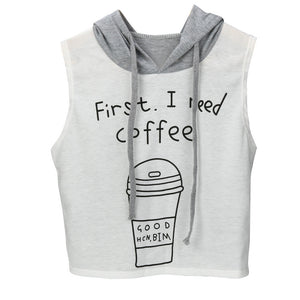 First I Need Coffee T-Shirt - Enkeechi, online shopping USA,  online womens clothes shopping