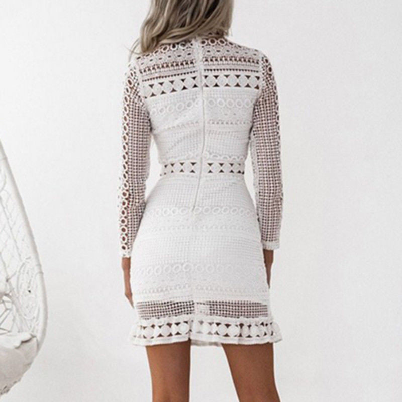 Lace Pencil Midi Dress - Enkeechi, online shopping USA,  online womens clothes shopping