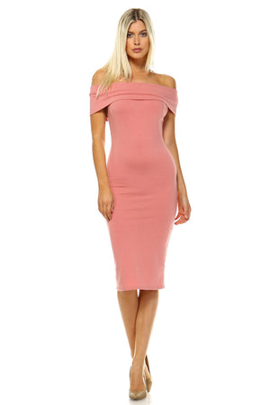 Women's Off Shoulder Bodycon Dress - Enkeechi, online shopping USA,  online womens clothes shopping
