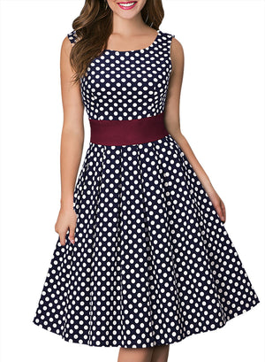 Vintage Polka Dot 1950'S Party Dress - Enkeechi, online shopping USA,  online womens clothes shopping