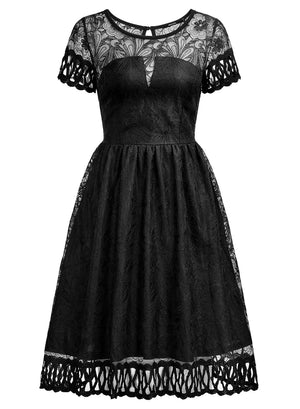 Retro 1920'S Flare Lace Evening Party Dress - Enkeechi, online shopping USA,  online womens clothes shopping