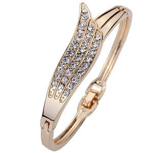Angel Wings Crystal Bangle - Enkeechi, online shopping USA,  online womens clothes shopping
