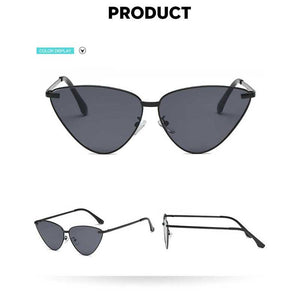Mirror reflective oversized Cat eye Sunglasses