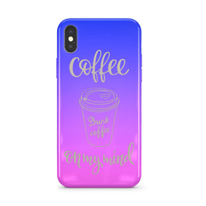Gradient Chrome Shiny Coffee On My Mind iPhone Case Cover