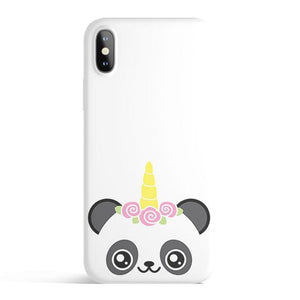 Panda Unicorn - Colored Candy Matte TPU iPhone Case Cover