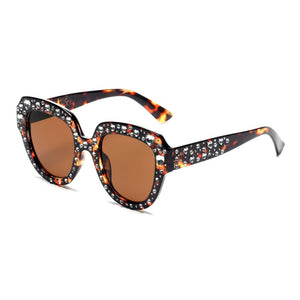 Bold Rhinestone Fashion Sunglasses