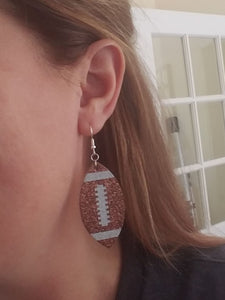 Shimmery Football Earrings