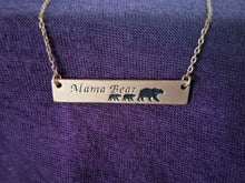 Load image into Gallery viewer, Mama Bear Bar Necklace
