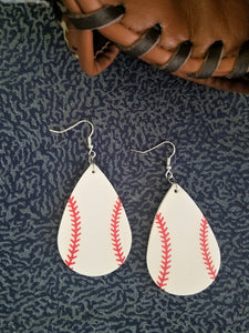 Trendy Baseball Dangle Earrings