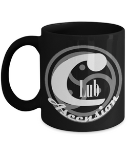 Club Ascension Black Coffee Mug