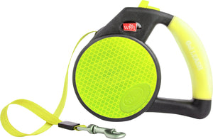 WIGZI REFLECTIVE RETRACTABLE LEASH WITH GEL HANGLE LIME