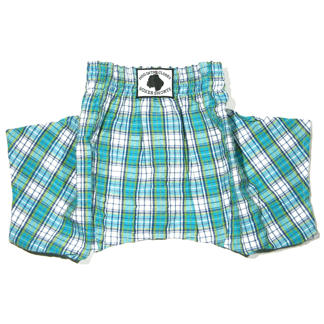 DOG IN THE CLOSET BOXER SHORTS FOR DOGS BLUE SEERSUCKER