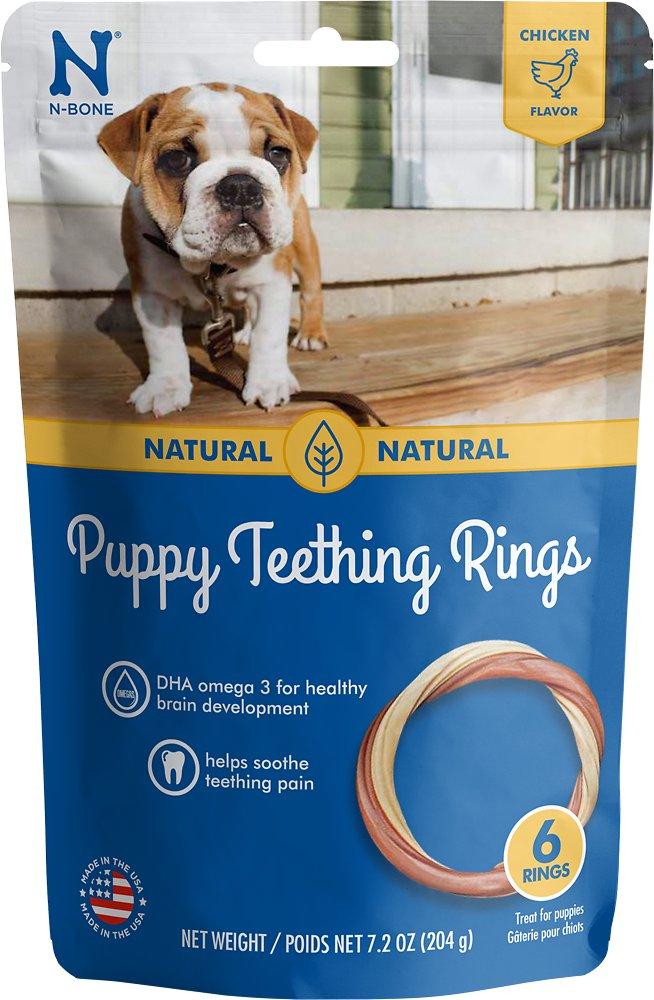 N-BONE PUPPY TEETHING RING CHICKEN 6PK