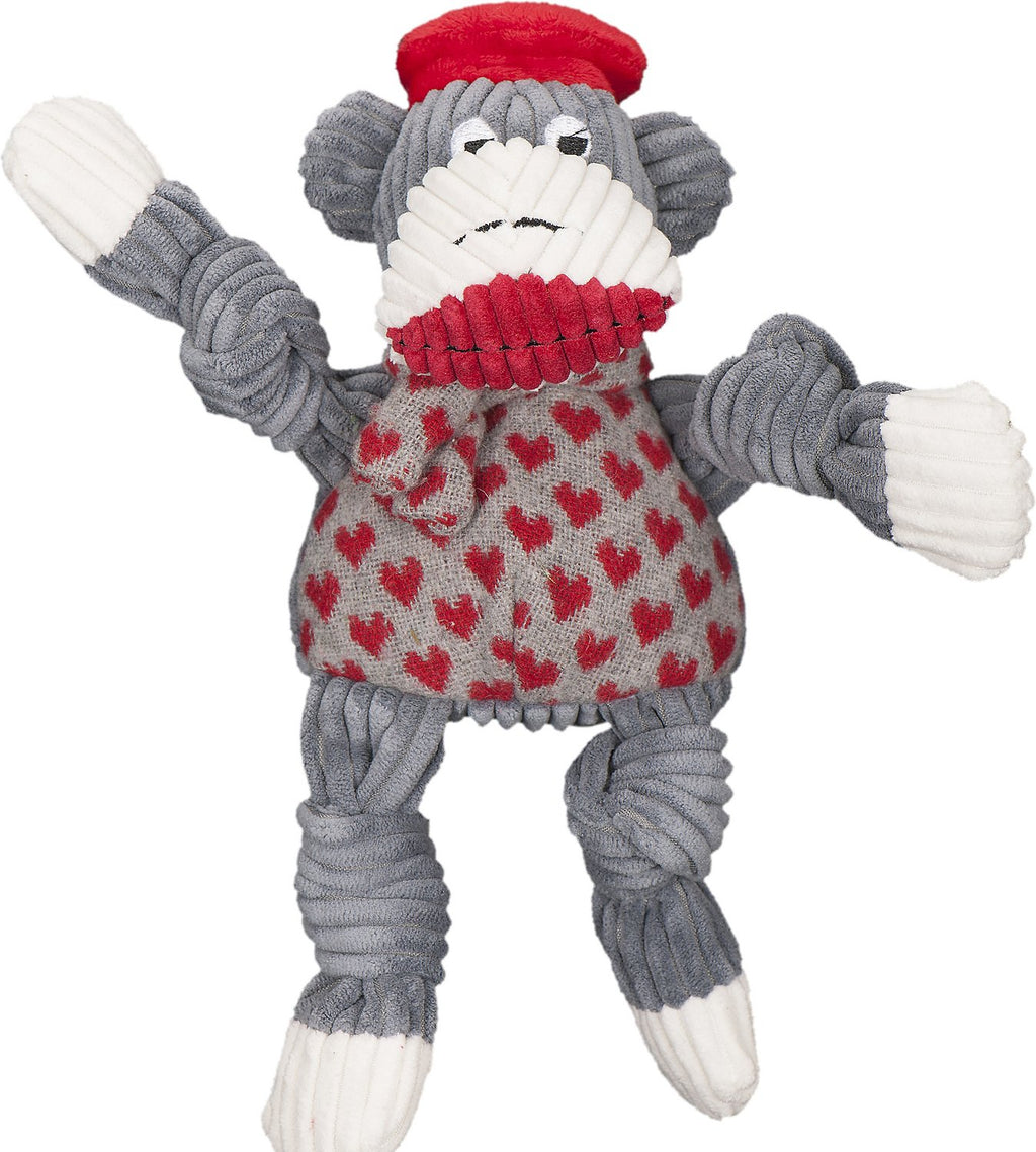 HUGGLE HOUNDS KNOTTIES SOCK MONKEY JEAN CLAUDE