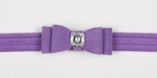 SUSAN LANCI BIG BOW COLLAR ULTRAVIOLET
