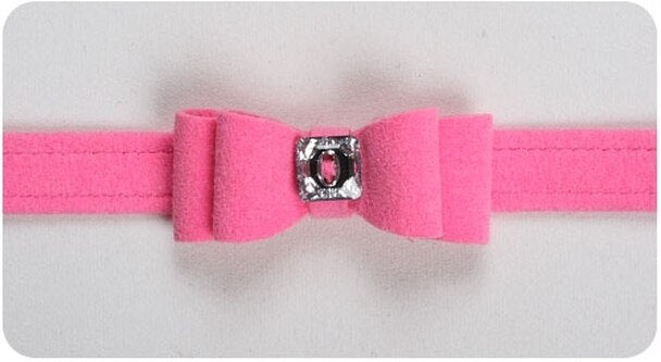 SUSAN LANCI BIG BOW COLLAR PERFECT PINK