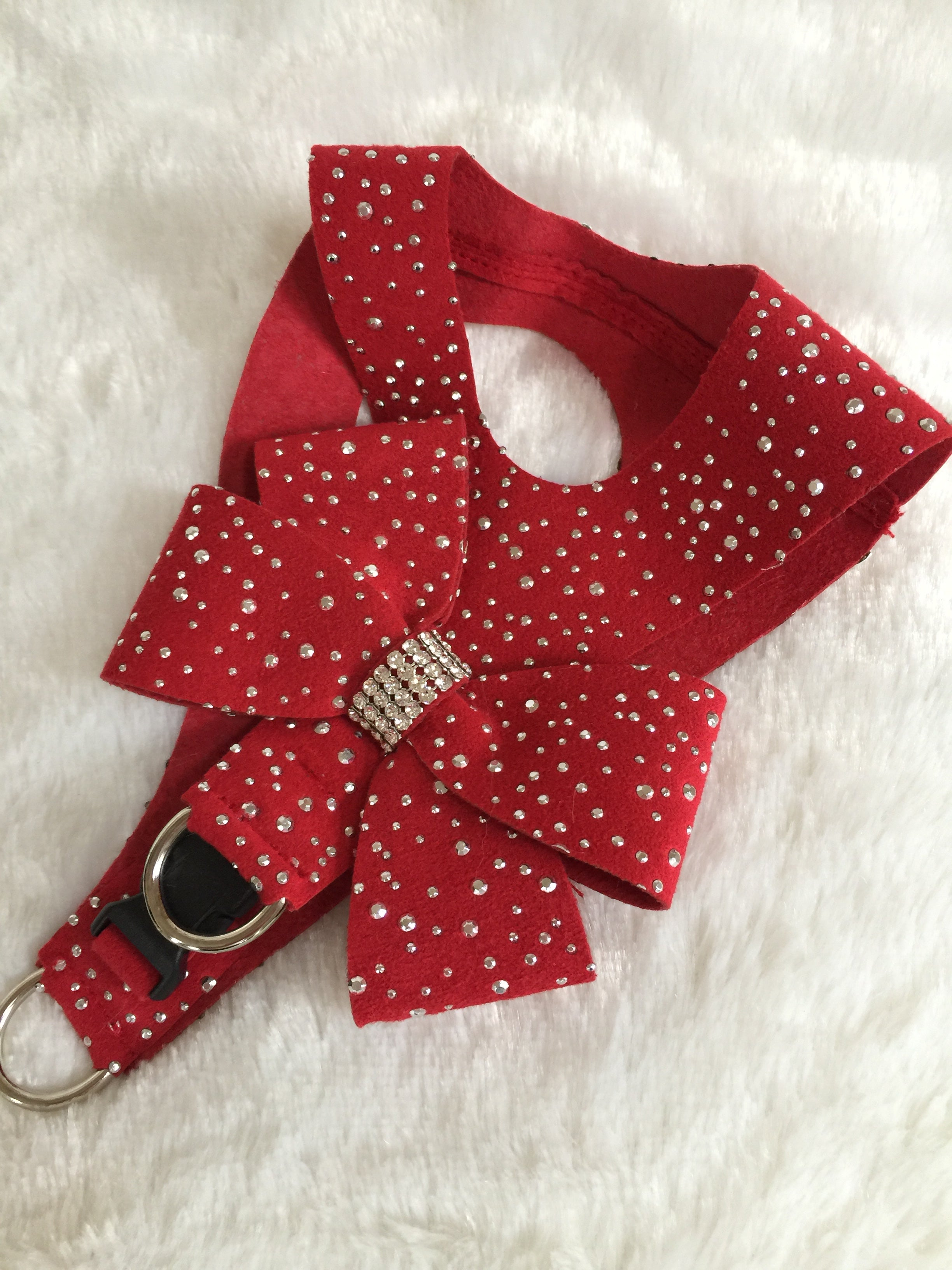 Susan Lanci Stardust Step In Red Harness w/bow
