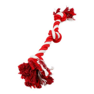 Tall Tails Dog Toy Rope Red & White 18""