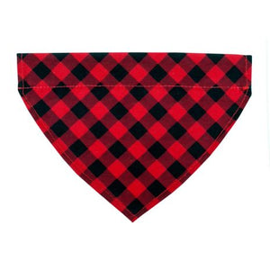 Tall Tails Bandana Red Plaid Over The Collar SM