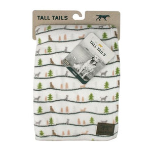 Tall Tails Blanket Winter Walk White 40X60