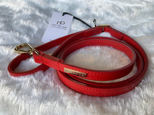 NOTTOOPET LEATHER LEASH RED 1/3""