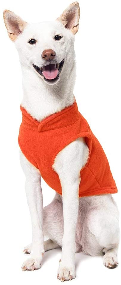 GOOBY FLEECE VEST ORANGE