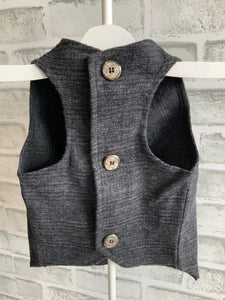 DOGGIE LEISURE/BUSINESS VEST CHARCOAL