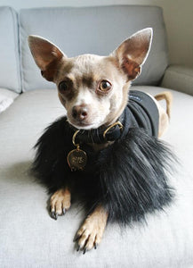 Eye of Dog Black Faux Fur Jumper