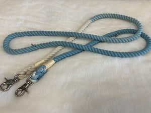 ROPE TRAINING LEASH TIE DYE BLUE/ WHITE