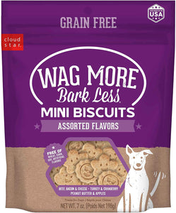 CLOUD STAR WAG MORE MINI BISQUITS ASSORTED 7 OZ