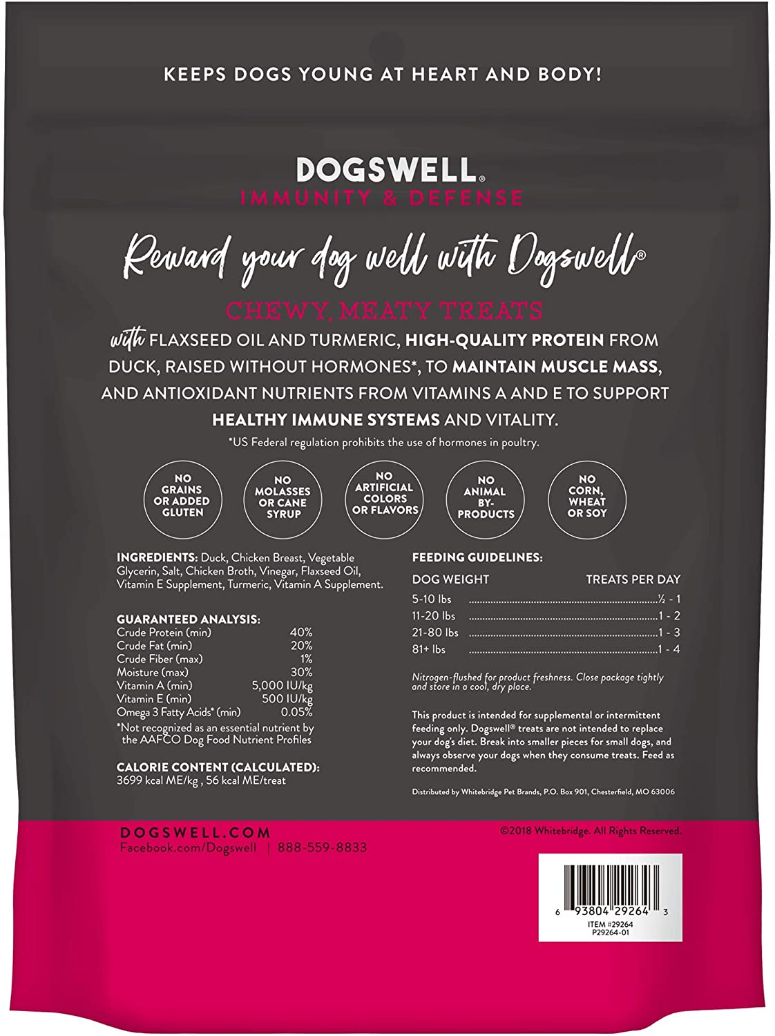 DOGSWELL JERKY IMMUNITY DEFENSE DUCK 10 OZ