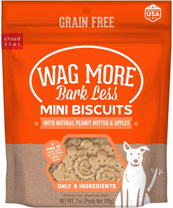 CLOUD STAR WAG MORE MINI BISQUITS PEANUT BUTTER & APPLE 7 OZ