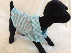 THE WORTHY DOG GINGHAM FLAMINGO SHIRT